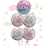 5 palloncini baby shower